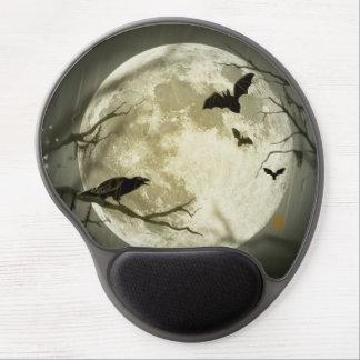 Halloween moon - full moon illustration gel mouse pad