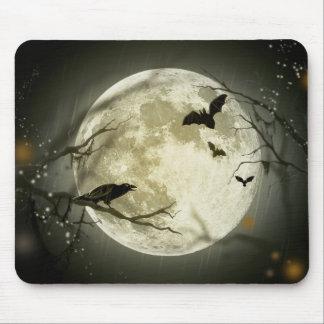 Halloween moon - full moon illustration mouse pad