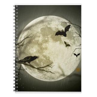 Halloween moon - full moon illustration notebook