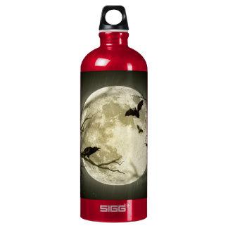 Halloween moon - full moon illustration water bottle