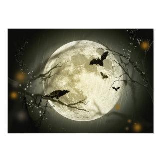 Halloween Moon Spooky Crows Card