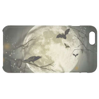 Halloween Moon Spooky Crows Clear iPhone 6 Plus Case