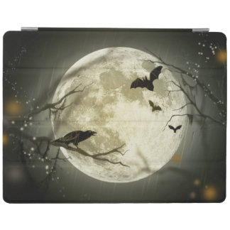 Halloween Moon Spooky Crows iPad Cover
