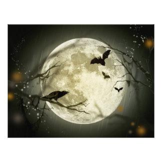 Halloween Moon Spooky Crows Letterhead