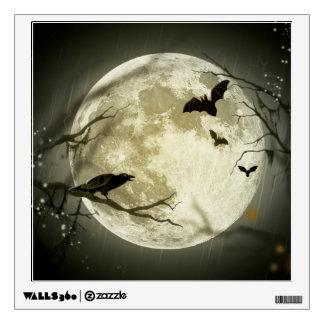 Halloween Moon Spooky Crows Wall Sticker