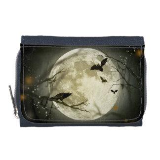 Halloween Moon Spooky Crows Wallet
