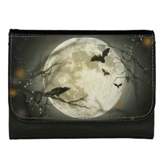 Halloween Moon Spooky Crows Women's Wallets