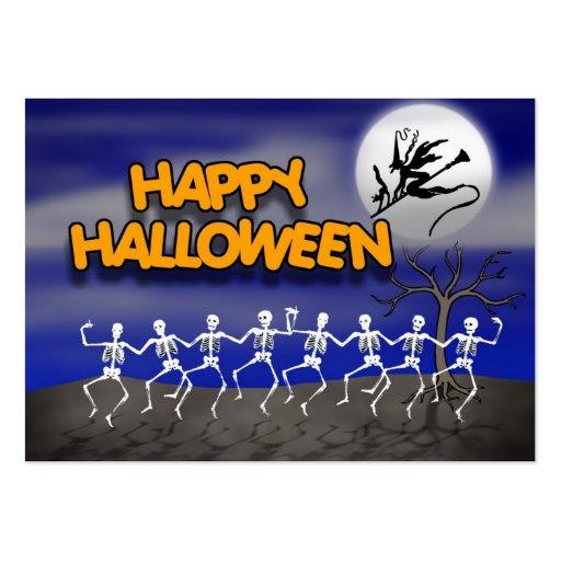 Halloween Moonlit Party Scene Business Cards