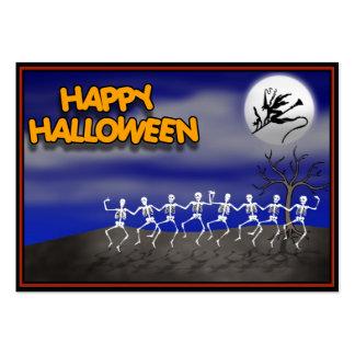 Halloween Moonlit Party Scene Business Card Templates