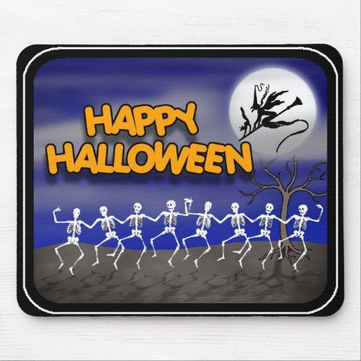 Halloween Moonlit Party Scene Mousepads