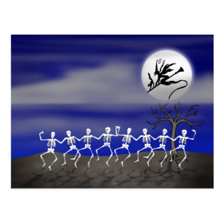 Halloween Moonlit Party Scene Postcard