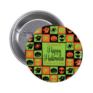Halloween mosaic 2 inch round button