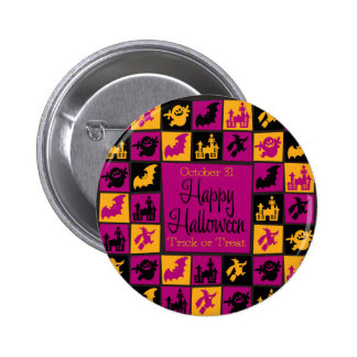 Halloween mosaic 2 inch round button