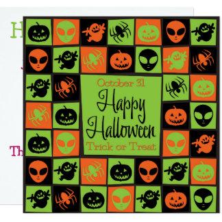 Halloween mosaic card