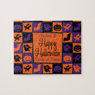 Halloween mosaic puzzles