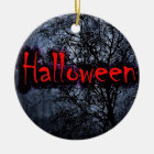 Halloween Motif Ceramic Ornament