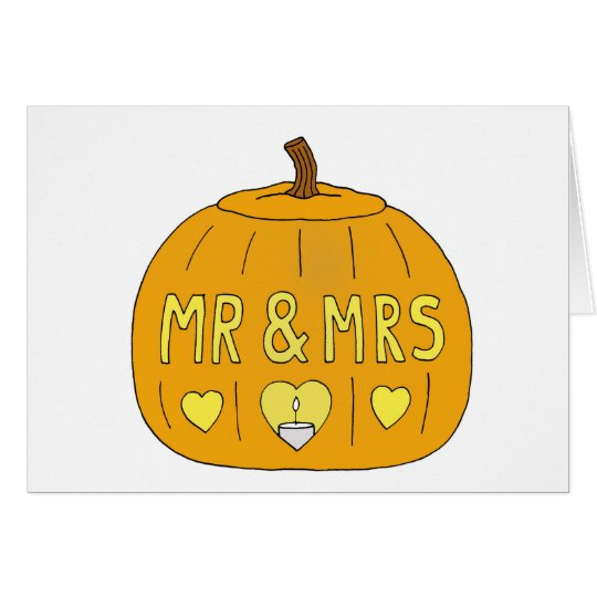 Halloween Mr and Mrs Wedding or Anniversary. Card