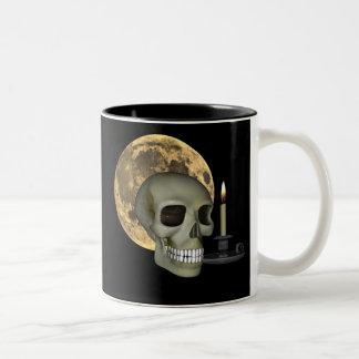 Halloween Mug with Skull, moon and candle