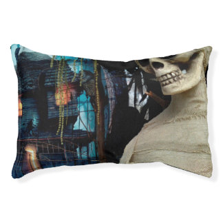 Halloween Mummy and Spooky House Small Dog Bed
