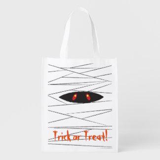 Halloween Mummy Reusable Grocery Bag