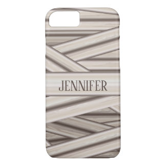 Halloween Mummy Stripes Pattern And Custom Name Case-Mate iPhone Case