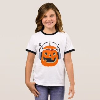 Halloween music ringer T-Shirt