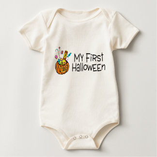 Halloween My First Halloween (Pumpkin Candy) Baby Bodysuit