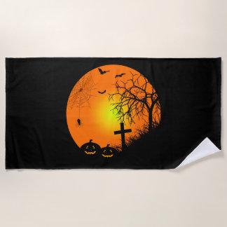 Halloween night beach towel