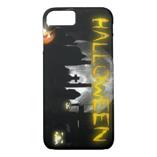 Halloween Night Cemetery Pumpkin Heads iPhone 8/7 Case
