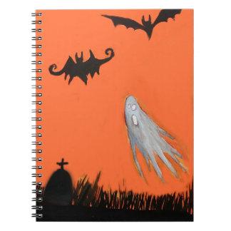 Halloween Night Ghost Spooky Notebook