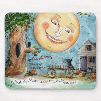 halloween night mouse pad
