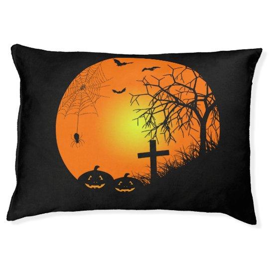 Halloween night pet bed