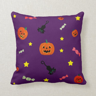 Halloween Night. Trick or Treat Throw Pillow