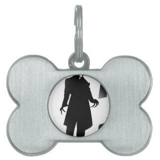 halloween nosferatu pet ID tag