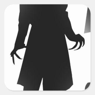 halloween nosferatu square sticker