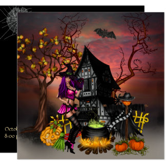 Halloween Open House Costume Party Card