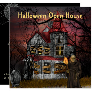 Halloween Open House Party Invitation
