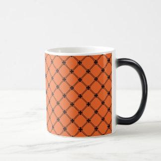 Halloween Orange and Black Pattern Coffee Mug