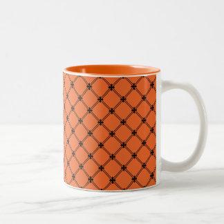 Halloween Orange and Black Pattern Mugs