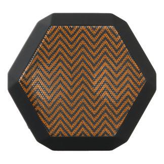 Halloween Orange Chevron Chalkboard Pattern Black Bluetooth Speaker