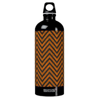 Halloween Orange Chevron Chalkboard Pattern Water Bottle