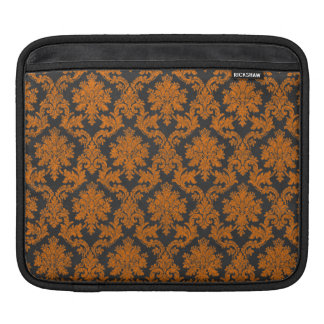 Halloween Orange Damask Chalkboard Pattern Sleeves For iPads