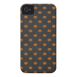Halloween Orange Pumpkin Chalkboard Pattern iPhone 4 Cover