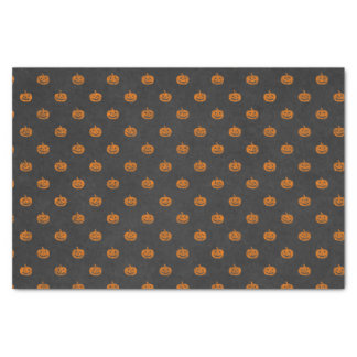 Halloween Orange Pumpkin Chalkboard Pattern Tissue Paper