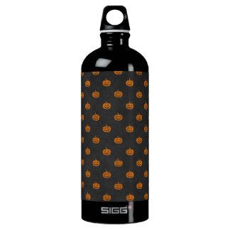 Halloween Orange Pumpkin Chalkboard Pattern Water Bottle