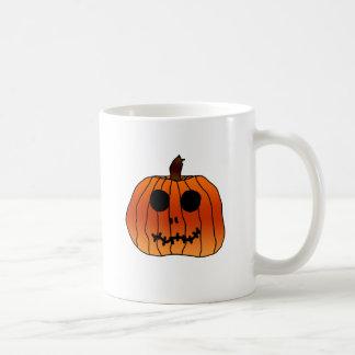 Halloween Orange Pumpkin Face Mugs