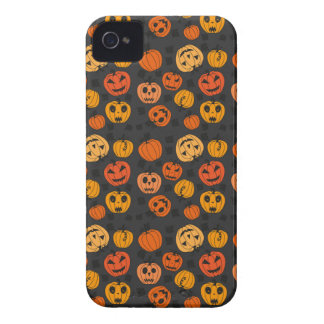 Halloween Orange Pumpkin Pattern Case-Mate iPhone 4 Cases