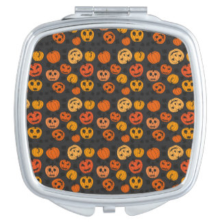 Halloween Orange Pumpkin Pattern Mirror For Makeup