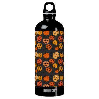 Halloween Orange Pumpkin Pattern Water Bottle