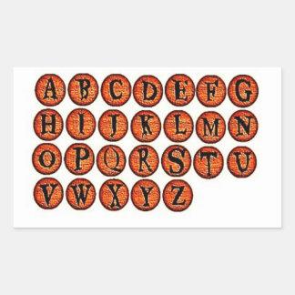 Halloween Orange Rock Letters Stickers